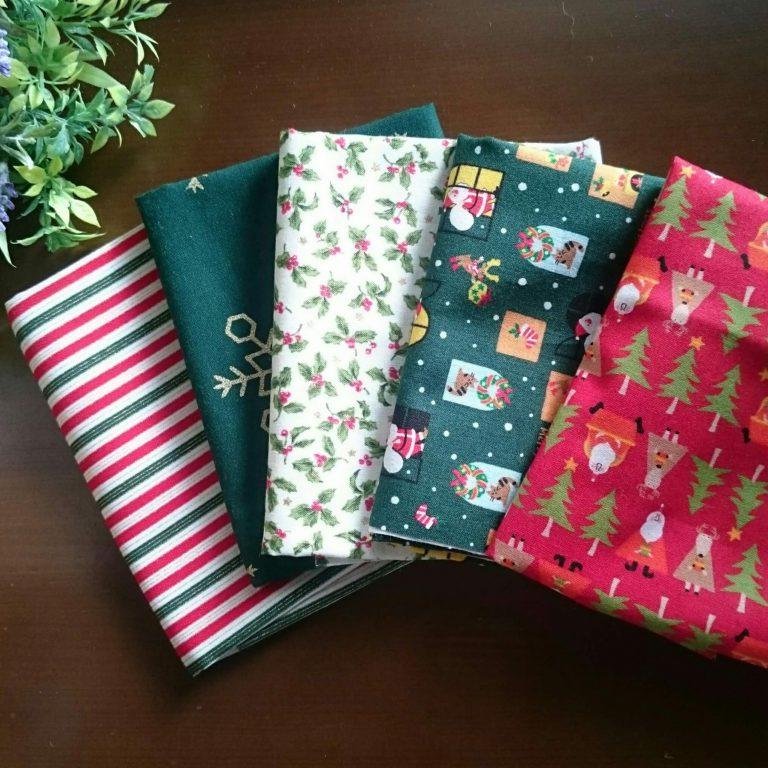 クリスマス柄の布たち