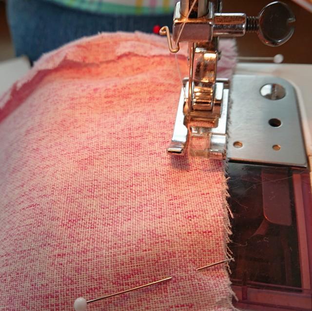 中表にして縫う